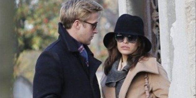 Ryan Gosling et Eva Mendes en visite à