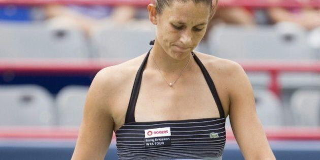 Marie-Ève Pelletier est éliminée en double à la Coupe BBVA