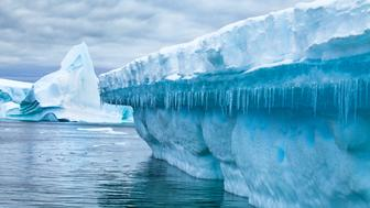 global warming and environment problem ecology concept, ice melting in Antarctica
