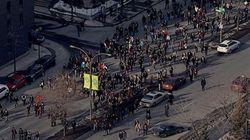 Grève étudiante: Manifestation houleuse au centre-ville de