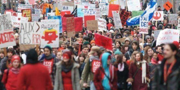 Les étudiants en grève reçoivent l'appui d'un millier de