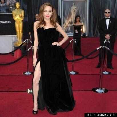 Jambe dénudée d'Angelina Jolie: la star s'explique au Huffington Post