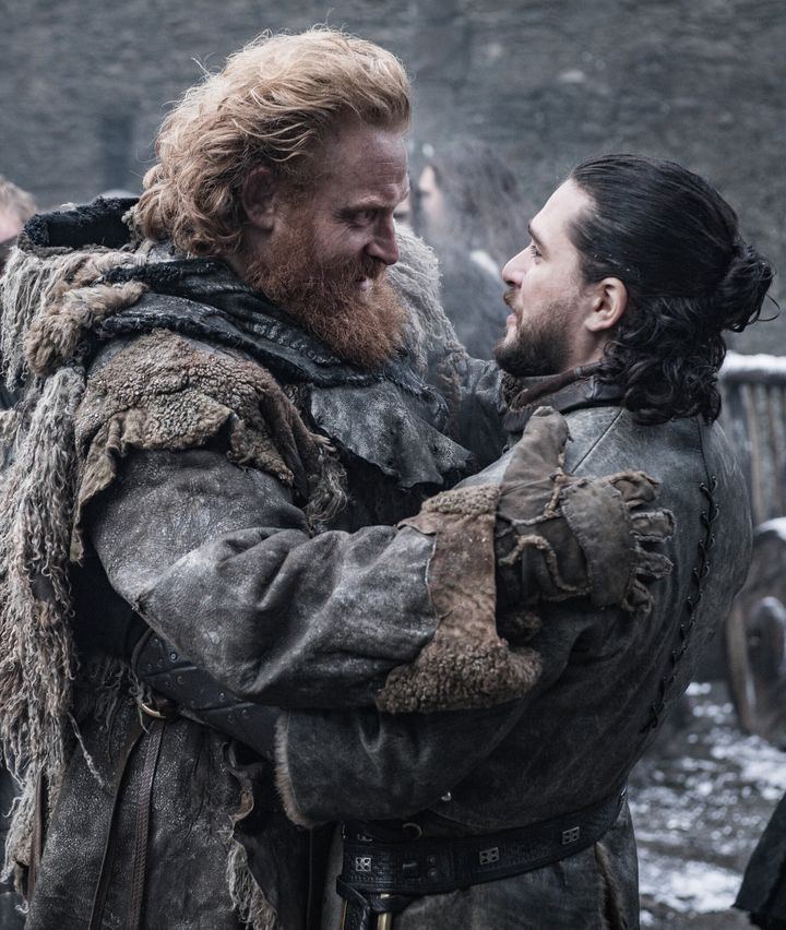 "Kristofer Hivju, left, revealed that an alternate ending to ""Game of Thrones"" was filmed but just for fun."