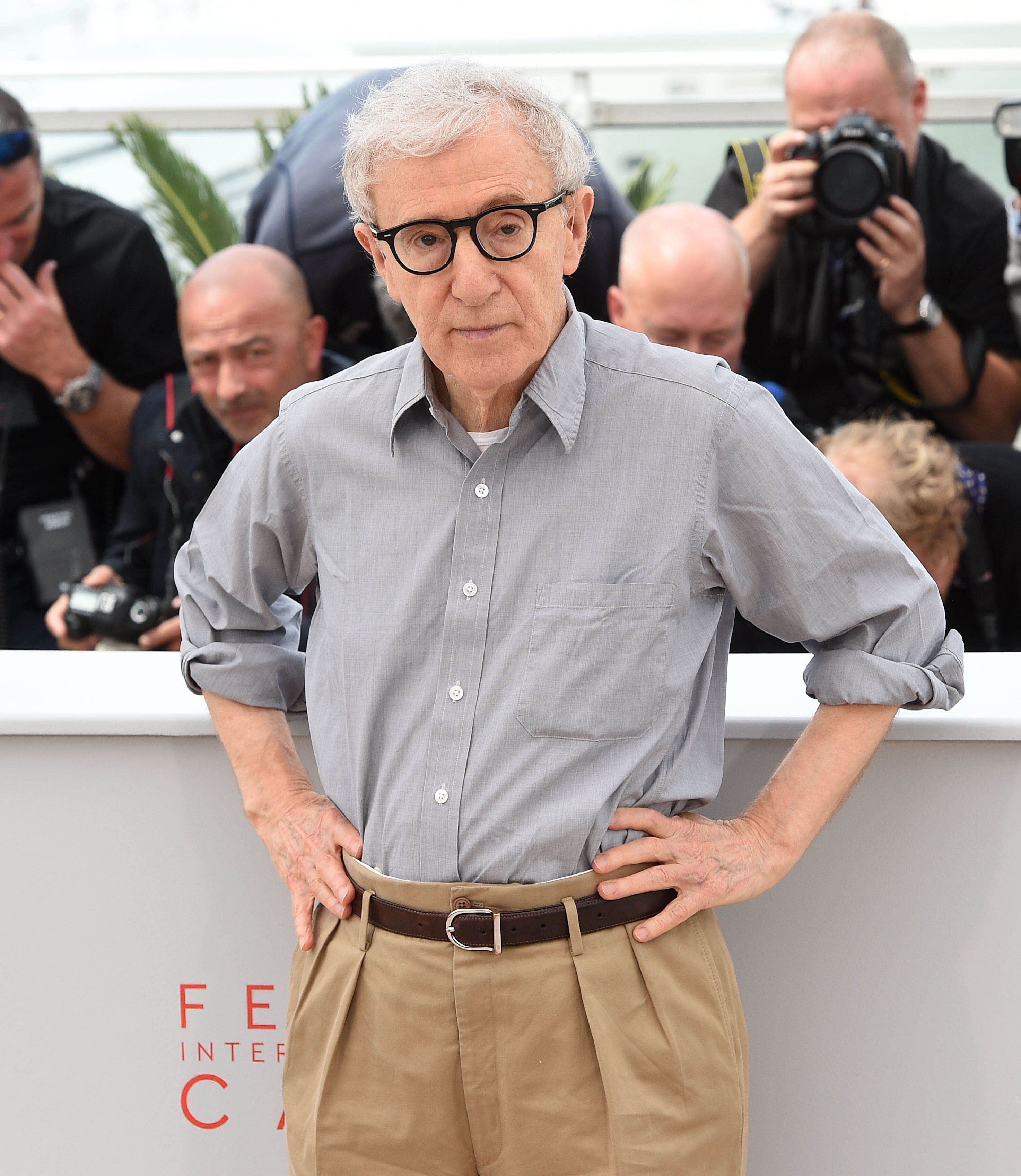 "File Photo by: KGC-102/195/STAR MAX/IPx 2016 5/11/16 Woody Allen at the ""Cafe Society"" photocall during the 69th Cannes Film Festival. (Cannes, France)"