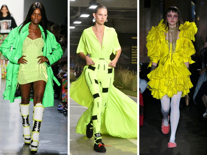 Left to right: Jeremy Scott, Off-White, Gucci