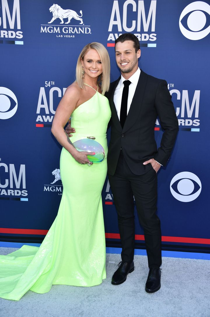 Miranda Lambert with&nbsp;<strong></strong>Brendan McLoughlin at the 54th Academy of Country Music Awards in Las Vegas on April 7.