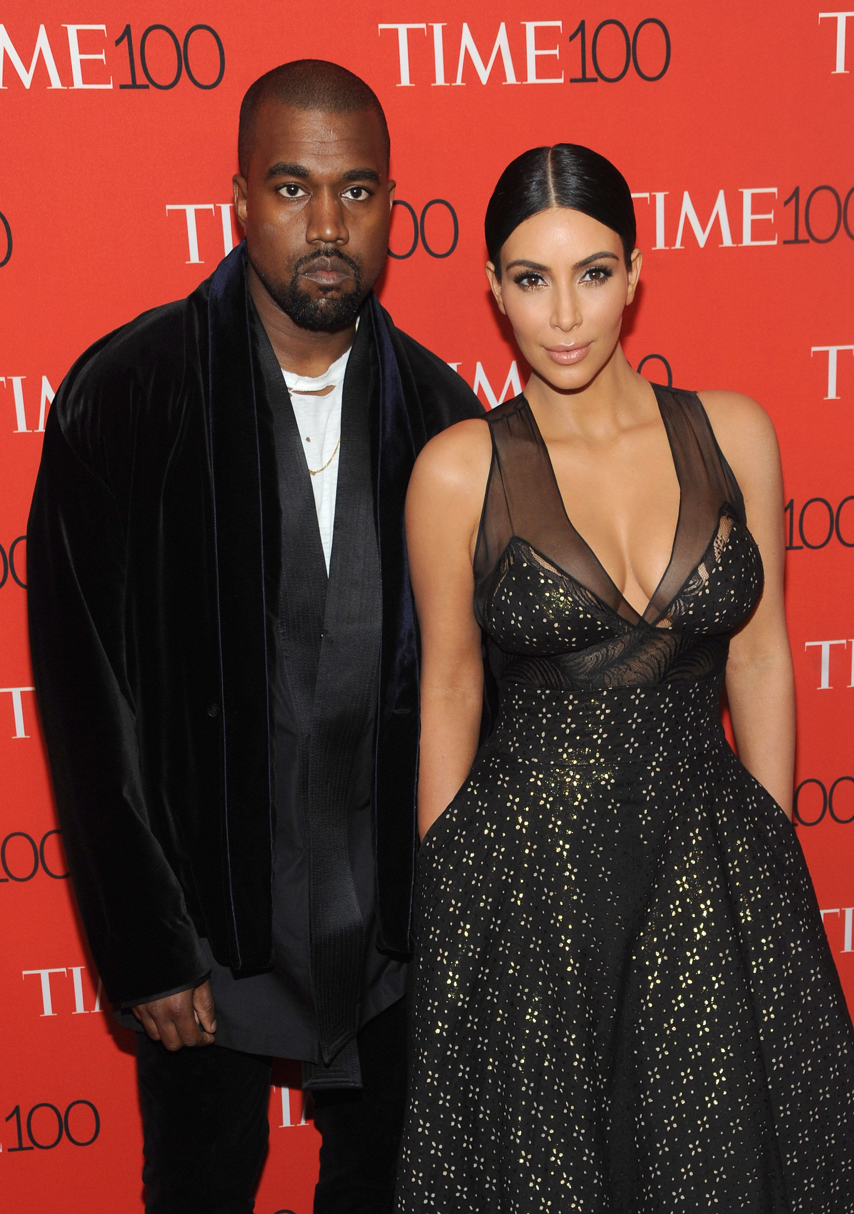 New York, NY- April 21: Kanye West and Kim Kardashian West  attend the TIME 100 Gala at the Frederick P. Rose Hall on April 21, 2015 in New York  City. Credit: John Palmer/MediaPunch/IPX
