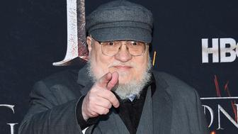 "Author and co-executive producer George R.R. Martin attends HBO's ""Game of Thrones"" final season premiere at Radio City Music Hall on Wednesday, April 3, 2019, in New York. (Photo by Evan Agostini/Invision/AP)"