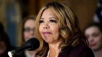 UNITED STATES - JANUARY 8: Rep. Lucy McBath, D-Ga., participates in the event to introduce the Bipartisan Background Checks Act of 2019 in the Capitol on Tuesday, Jan. 8, 2018. (Photo By Bill Clark/CQ Roll Call)
