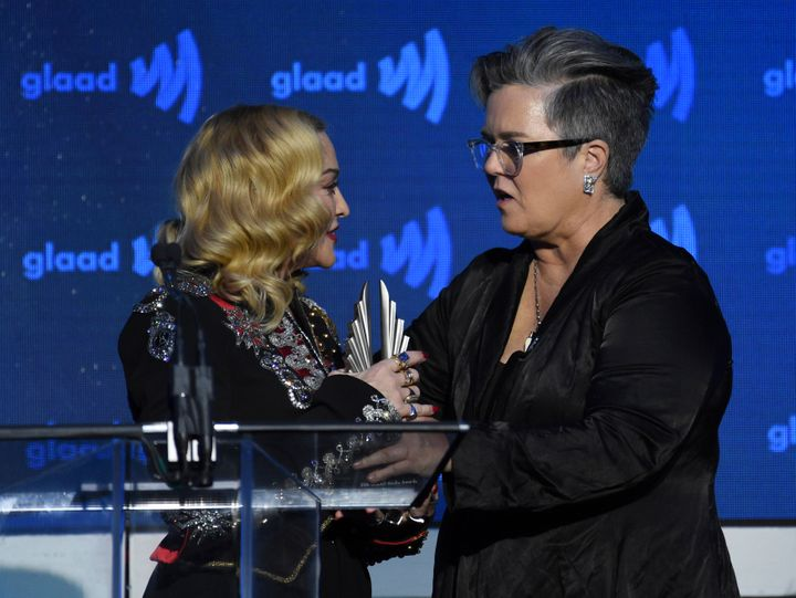 Rosie O'Donnell was among those who introduced Madonna to the stage at the 2019 GLAAD Media Awards in New York. The pals were