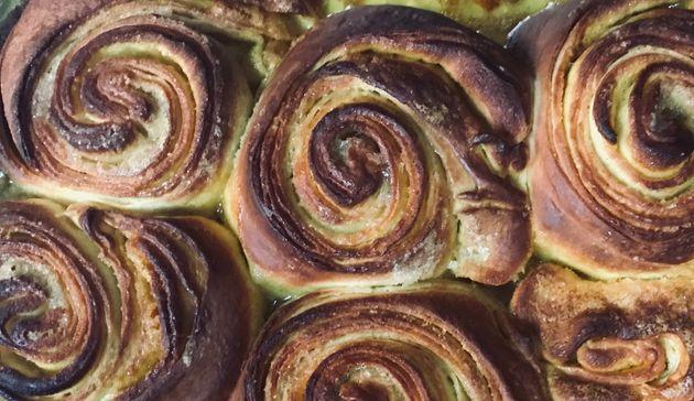 Taria Camerino infused CBD into these brioche rolls with tahini and