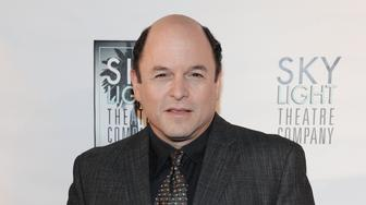 """FILE - In this Sept. 29, 2013 file photo, Jason Alexander attends the First Annual SALUTE to the Playwright Honors Terrence McNally at the Saban Theatre, in Los Angeles. Larry David will hand over his starring role on Broadway to an old """"Seinfeld"""" alum - Alexander. Producers said Thursday, March 26, 2015, that Alexander, who played the David-like George Costanza on the hit show, will replace David as Norman Drexel beginning June 9 in the comedy at the Cort Theatre. (Photo by Richard Shotwell/Invision/AP, File)"""