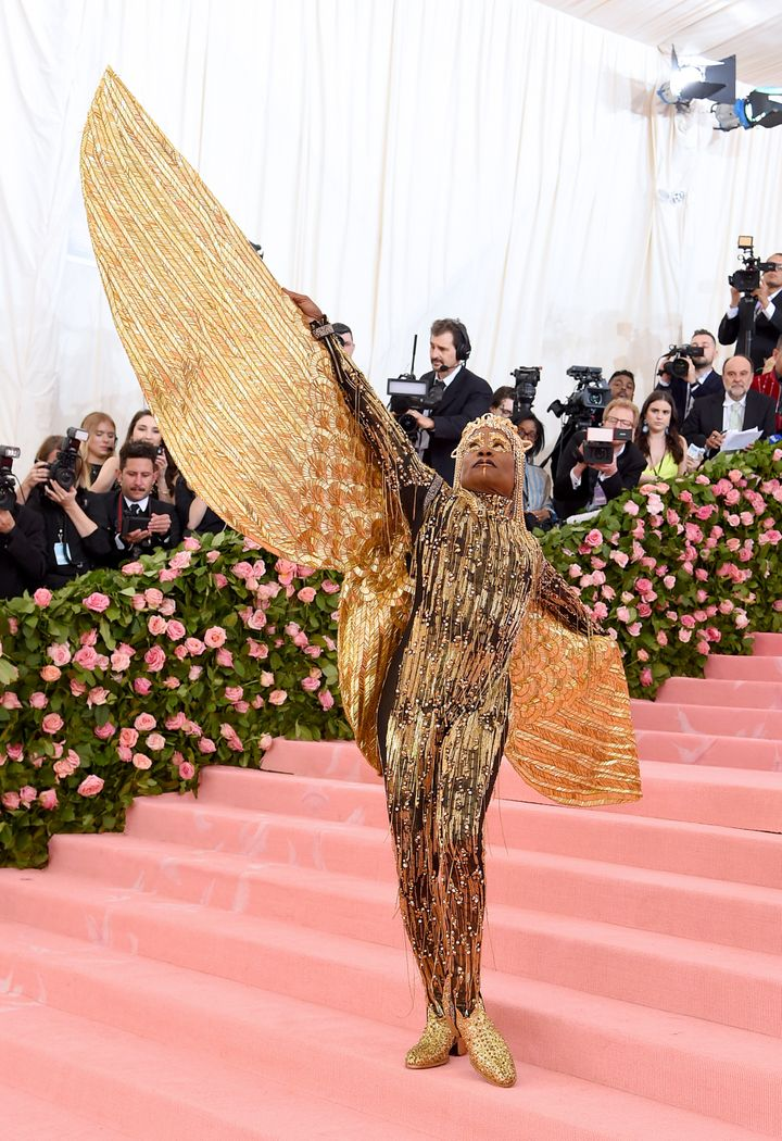 Porter on the 2019 Met Gala red carpet.