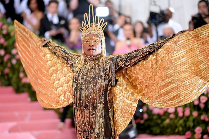 Billy Porter arrives for the 2019 Met Gala in New York.