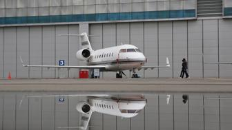 MOSCOW, RUSSIA - SEPTEMBER 7, 2017: A Bombardier Challenger 601 passenger aircraft of Russia's Sirius-Aero Airline on display at the 2017 Jet Expo International Business Aviation Show at the Vnukovo-3 Business Aviation Center. Marina Lystseva/TASS (Photo by Marina Lystseva\TASS via Getty Images)