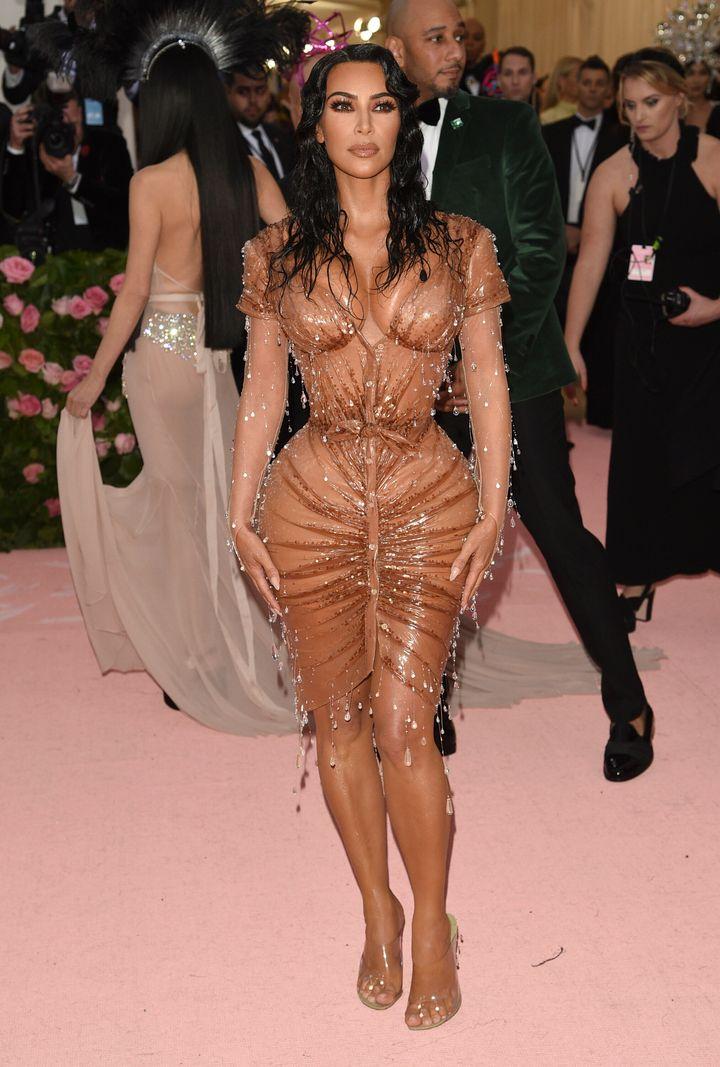 Kim Kardashian walks the red carpet at the 2019 Met Gala.