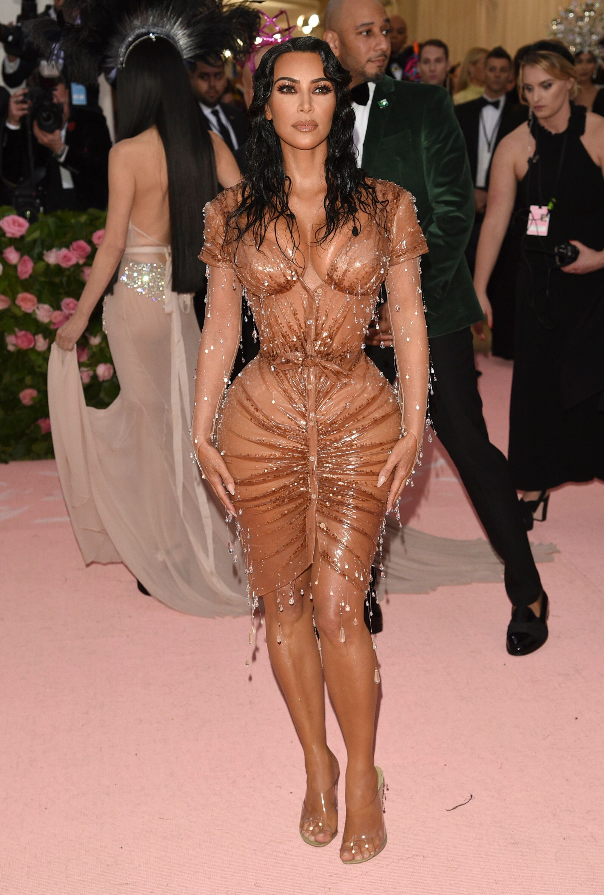 "Kim Kardashian attends The Metropolitan Museum of Art's Costume Institute benefit gala celebrating the opening of the ""Camp: Notes on Fashion"" exhibition on Monday, May 6, 2019, in New York. (Photo by Evan Agostini/Invision/AP)"