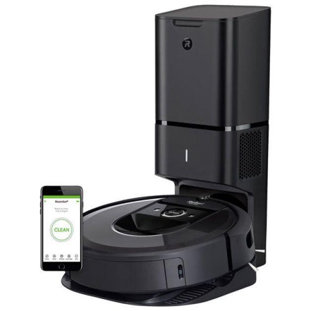 Les iRobot se vendent entre 350$ et 1350$. Le modèle ci-haut, RoombaMD i7+, élimine la poussière de manière...