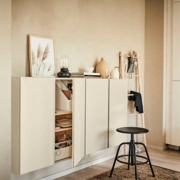 IKEA : IVAR rangement à portes (peint) -