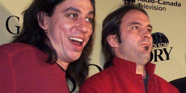 Michael Sawatzky (à gauche) et André Fortin lors de la réception d'un prix Félix au gala de l'ADISQ,...