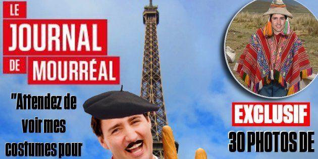 Une image de page Une du «Journal de Mourréal» diffusée sur la page Facebook du site