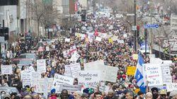 Des milliers de manifestants contre le projet de loi sur la laïcité à