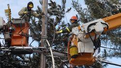 De nombreux clients d'Hydro-Québec privés de courant jusqu'à