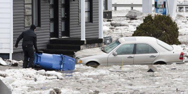 Des centaines de résidences de Beauceville ont dû être évacuées en raison des