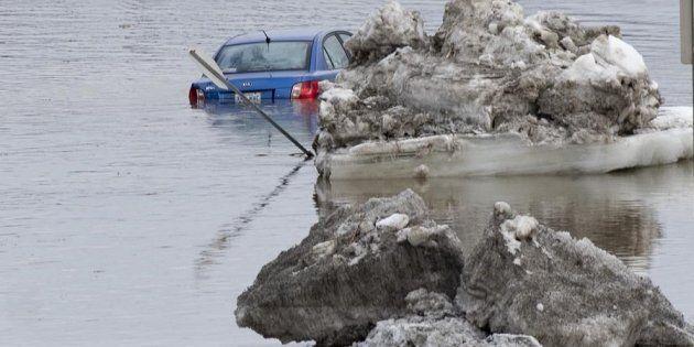 La crue des eaux a déjà causé plusieurs inondations à Beauceville cette