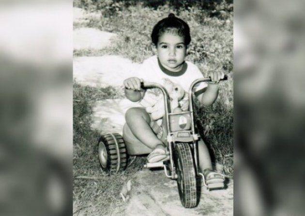 Singh dans une photo d'enfance non