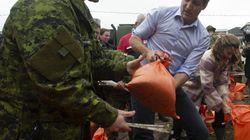 Inondations: Justin Trudeau à Gatineau