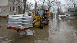 Inondations: le nombre de sinistrés recommence à
