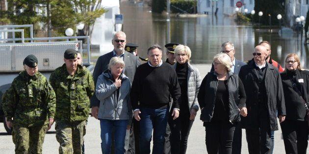 Le premier ministre François Legault s'est rendu à Sainte-Marthe-sur-le-Lac,