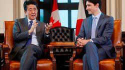 Shinzo Abe et Justin Trudeau se félicitent du partenariat