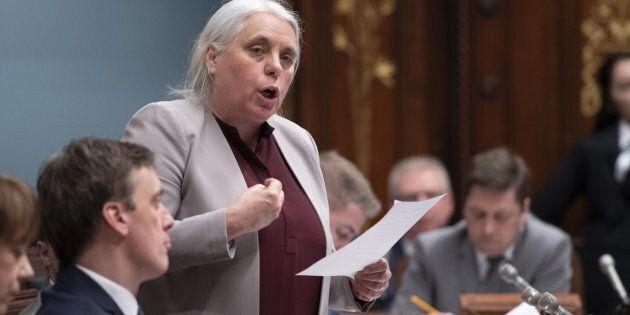 Manon Massé, coporte-parole de Québec