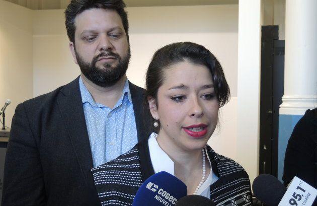 Sophie Mauzerolle et Éric Alan Caldwell, responsables du transport au sein du comité exécutif de Montréal.