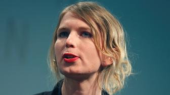 Chelsea Manning speaks at the Re:publica conference in Berlin, Germany, May 2, 2018. REUTERS/Axel Schmidt