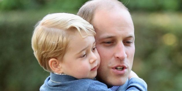 VICTORIA, BC - SEPTEMBER 29: (NO UK SALES FOR 28 DAYS) Prince William, Duke of Cambridge and Prince George...