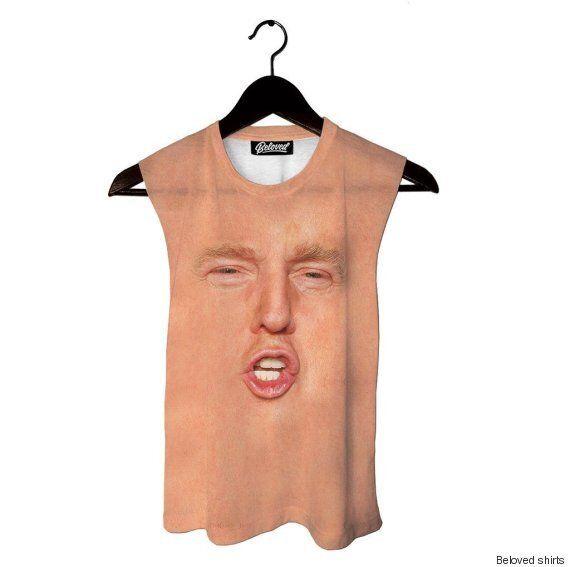 Donald Trump: un maillot de bain avec le visage en gros plan du président