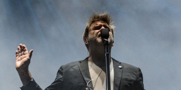 GEORGE, WA - MAY 26: James Murphy of LCD Soundsystem performs live on stage at Gorge Amphitheatre on...