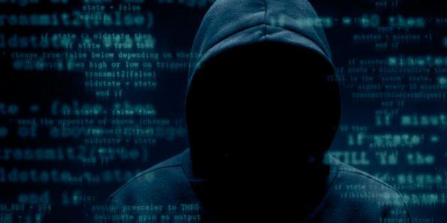 Hooded hacker. Cyber attack