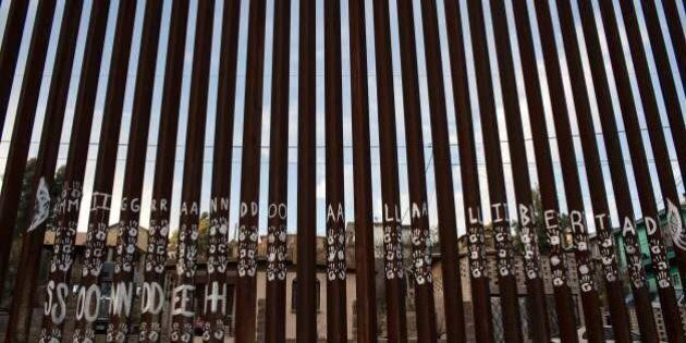 A view of the US/Mexico border line in Nogales, on February 16, 2017, northwestern Mexico. ***Attention...