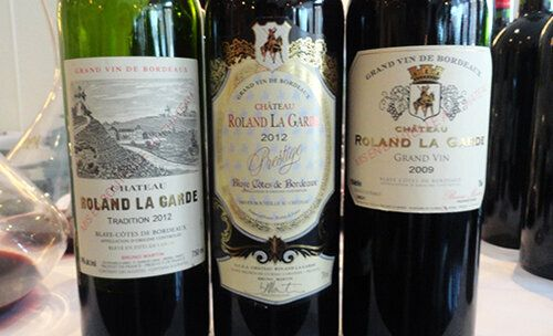 Les trois vins rouges du Château Roland La Garde à