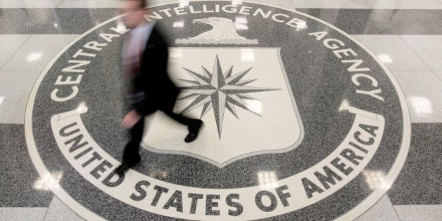 The lobby of the CIA Headquarters Building in Langley, Virginia, U.S. on August 14, 2008. To match Special...