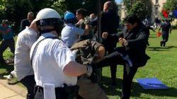 Les gardes du corps du président turc Erdogan affrontent des opposants à