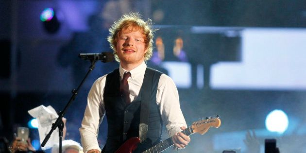 British singer Ed Sheeran performs at the MuchMusic Video Awards (MMVAs) in Toronto, June 21, 2015. REUTERS/Fred
