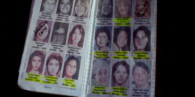 VANCOUVER, BRITISH COLUMBIA - APRIL 20: A private detective's notebook on women who have gone missing...