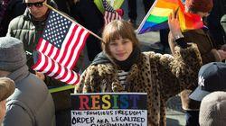 3000 personnes manifestent contre Trump à l'appel de la communauté