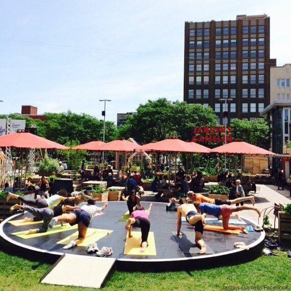 Yoga gratuit tout l'été aux Jardins Gamelin à