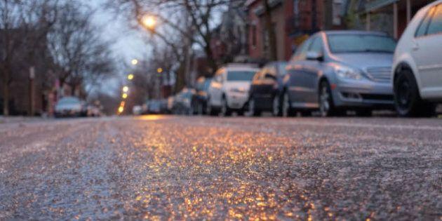 La pluie verglaçante cause des sorties de route dans le Grand